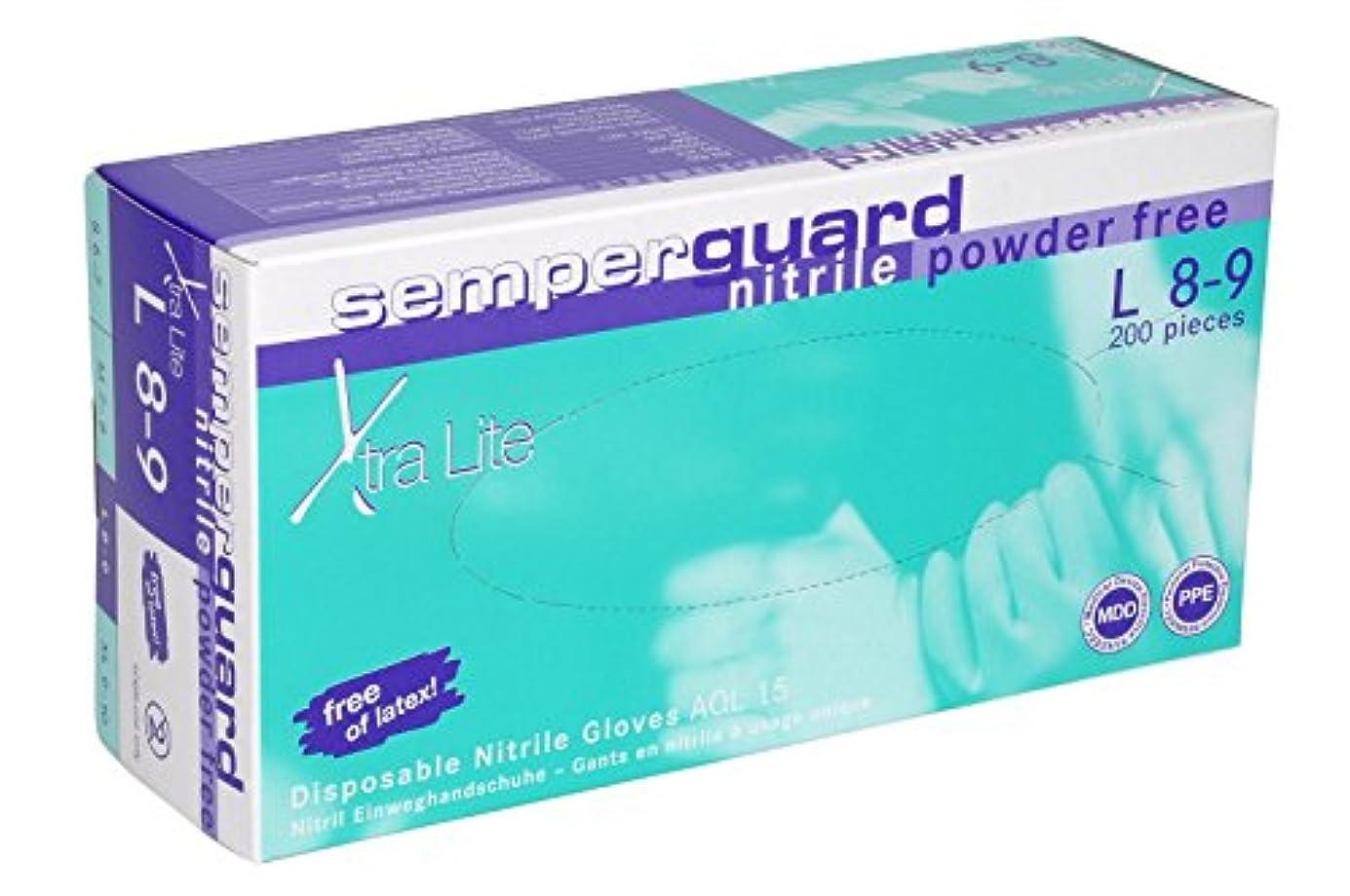 かび臭い国旗交じるSemperit 使い捨てニトリル手袋 Xtra Lite 0.14mm 粉無(入数:200枚) 3000001620