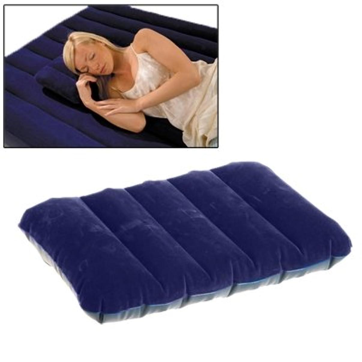 化粧レジデンス篭Yslina キャンプ用寝袋屋外用空気枕枕用寝袋枕用寝袋クッション(ダークブルー)
