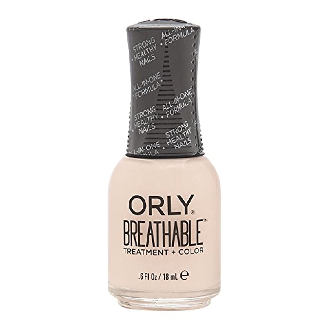 脅威マナー前部Orly Breathable Treatment + Color Nail Lacquer - Rehab - 0.6oz / 18ml