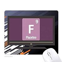 フッ素化学元素科学f ノンスリップラバーマウスパッドはコンピュータゲームのオフィス