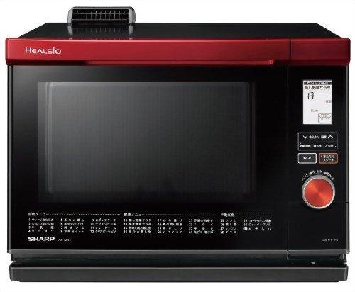 SHARP HEALSIO ウォーターオーブンレンジ 26L 1段調理 97メニュー 省エネ基準達成 レッド系 AX-MX1-R