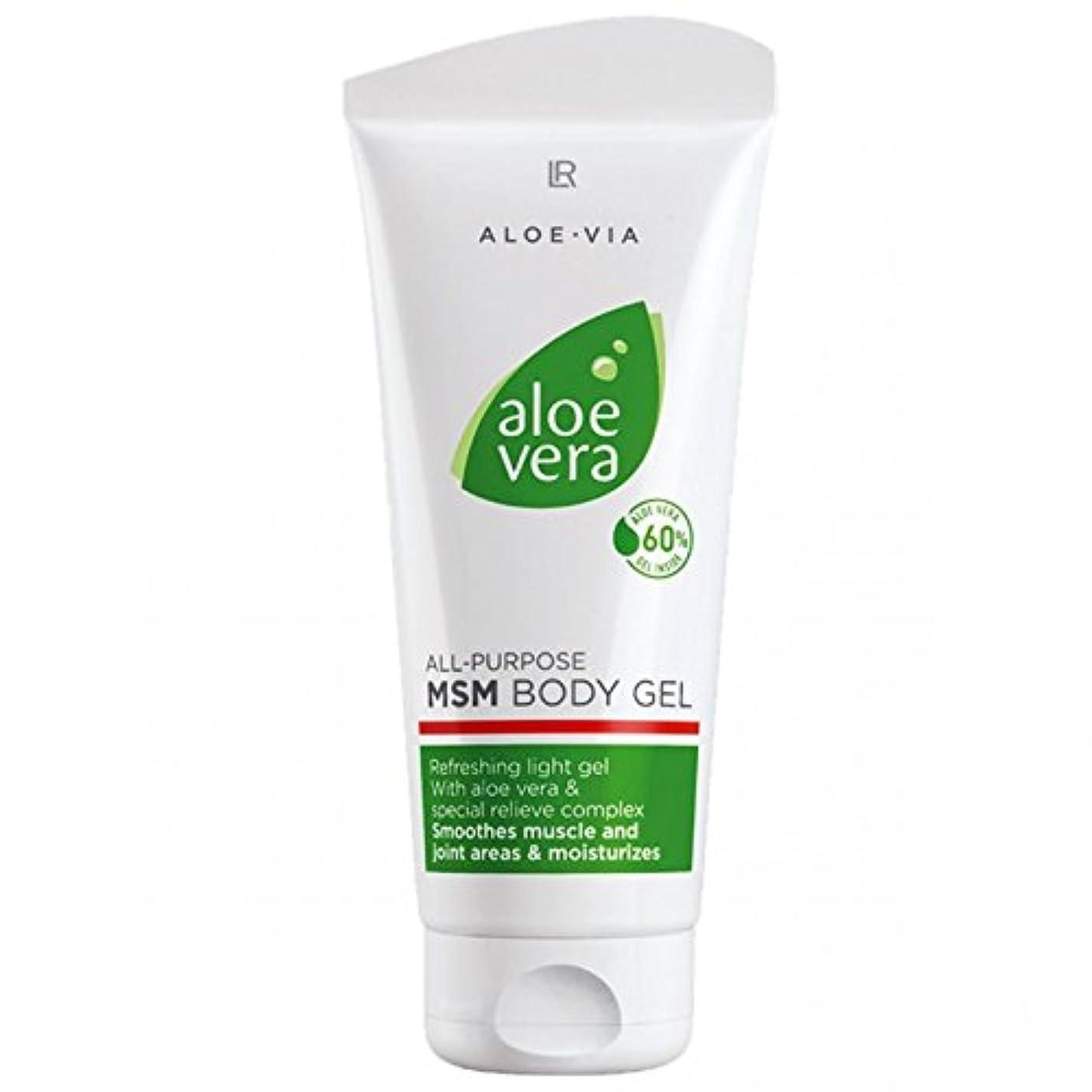L R アロエベラMSMボディジェル美容や化粧品、滑らかな、迅速な吸収ゲル%60アロエベラ200ミリリットル