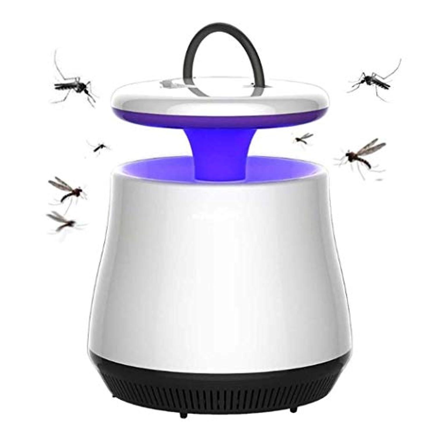外出自分自身感染する蚊ランプ、usb光触媒物理的な蚊のキラー、LEDラウンドプラスチックホームオフィスの蚊のキラー