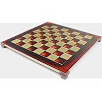 Manopoulos Brass & Red Chess Board - 1