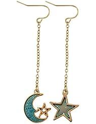 可愛いピアス 星が光るのイヤリング 人気 ファッション アクセサリー 少女モデル