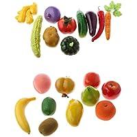 Baosity 異なる 人工 野菜 フルーツ 食品 ホーム ストア ディスプレイ 道具 20個