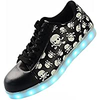 DoGeek Light up Led Shoes for Women Men 7 Colors Led Flashing Rechargeable Sneaker USB Charging Light up Trainers for Boys Girls