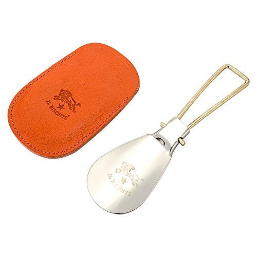 [ イルビゾンテ ] Il Bisonte 靴べら ステンレス レザーケース付き K0065 オレンジ(166) GIFTS 166/Orange 折りたたみ 携帯用 シューホーン [並行輸入品]