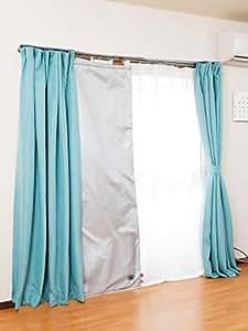 スペース暖 断熱カーテン ストップ温暖化 100*173cm 2枚組