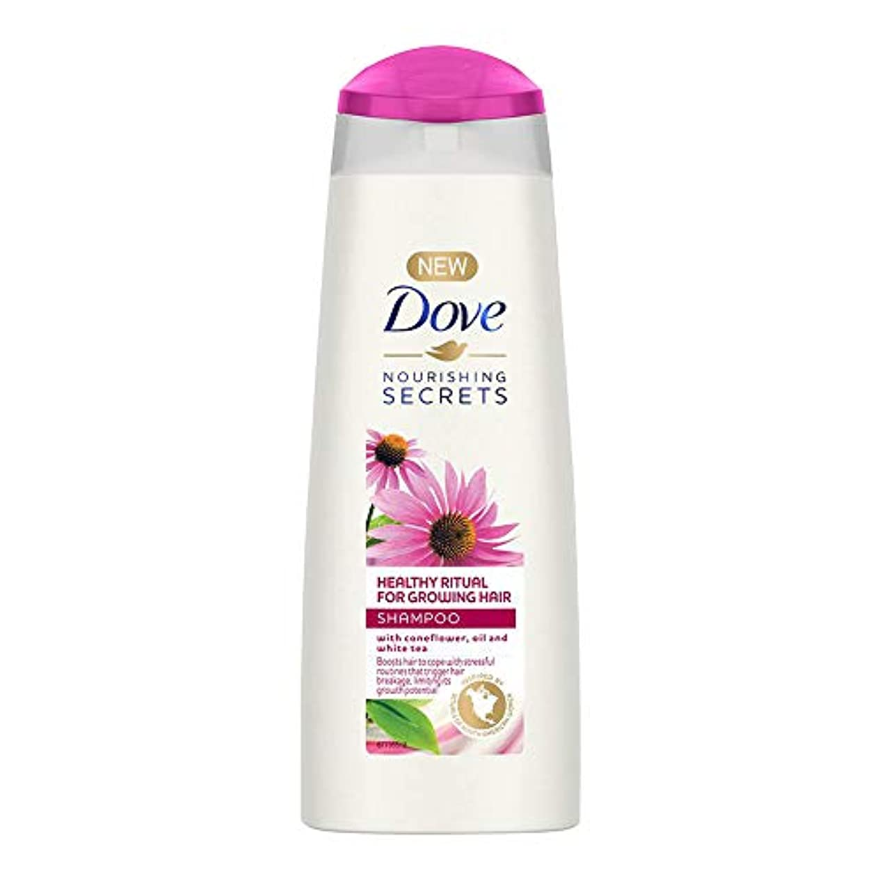 まあフラフープ審判Dove Healthy Ritual for Growing Hair Shampoo, 180 ml (Coneflower, Oil and White Tea)