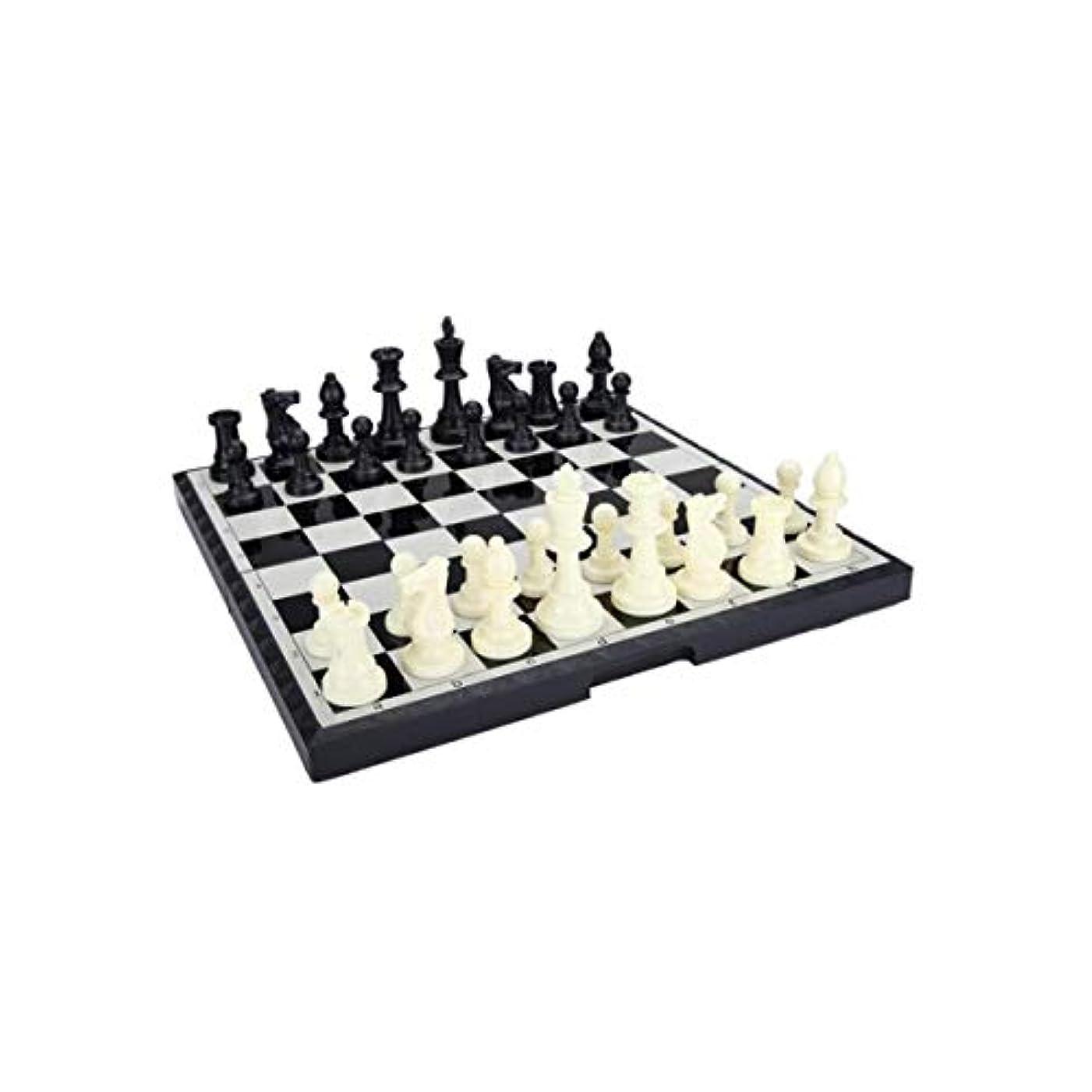 HENGTONGTONGXUN チェス インターナショナル チェス ポータブル 折りたたみ式 磁気ボード B-9 L (カラー:ブラック)