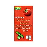 刻んだバジルの500グラムとイタリアPassata (Waitrose) (x 2) - Italian Passata with Chopped Basil Waitrose 500g (Pack of 2)