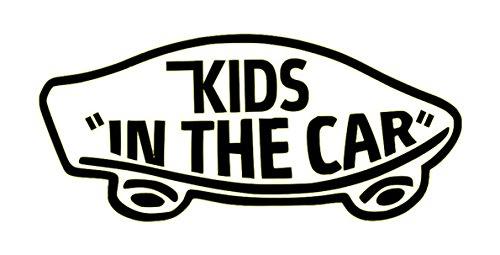 【全16色】人気!キッズ イン カー ステッカー!Kids in car Sticker /車用/シール/ Vinyl/Decal /バイナル/デカール/ステッカー/KIC-1 (黒) [並行輸入品]