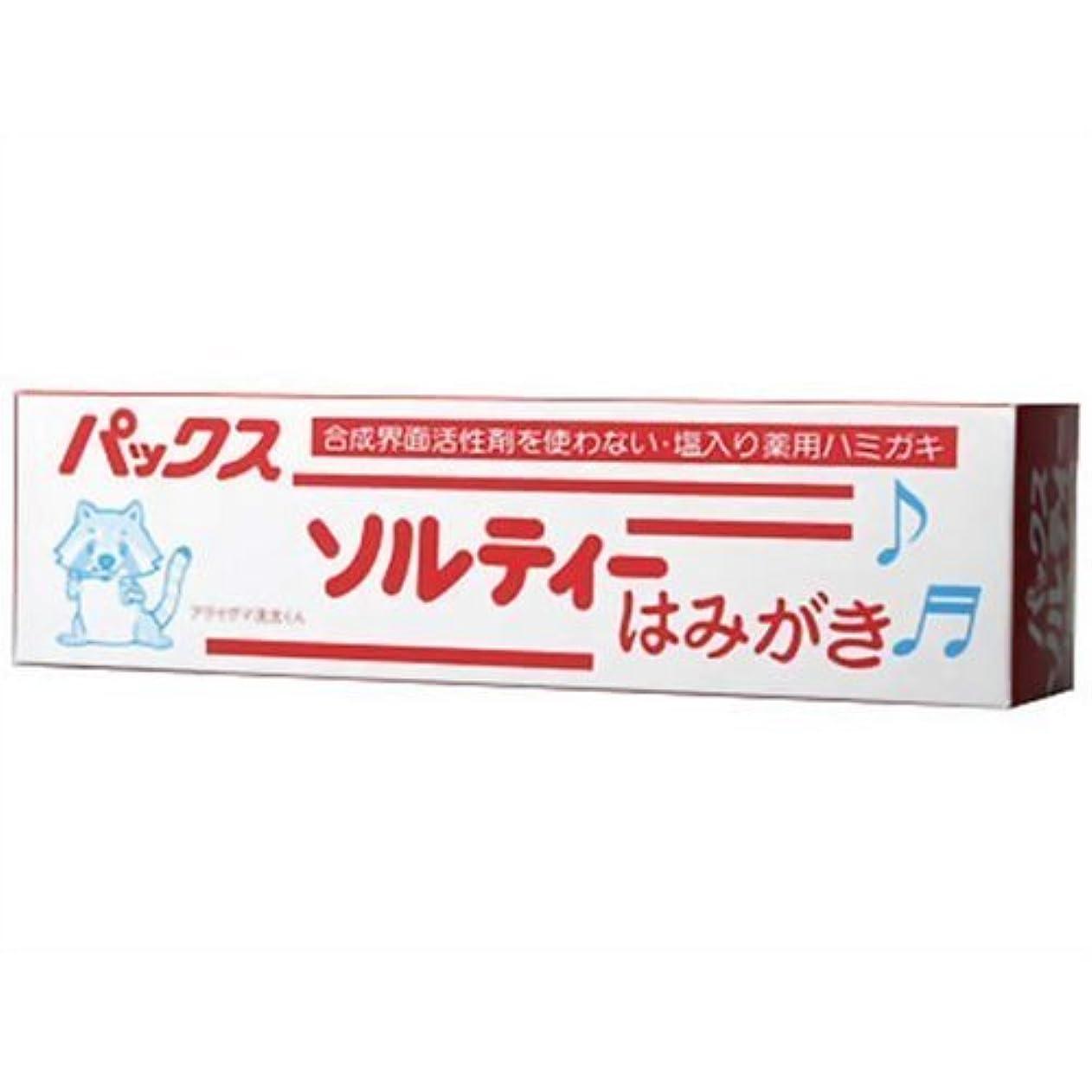 決定息切れシーボードパックスソルティーはみがき 80g (塩歯磨き粉)