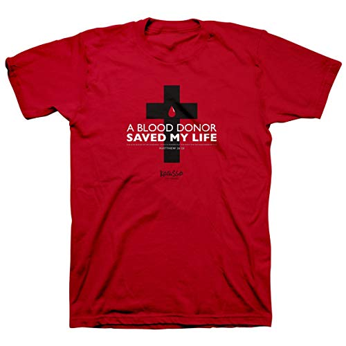 献血者は私の命を救った、ティー、LG、赤 - キリスト教の贈り物