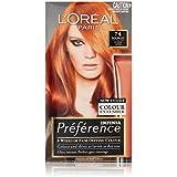 L'Oréal Paris Préférence Permanent Hair Colour - P74 Mango (Intense, Fade-Defying Colour)
