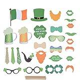 BESTOYARD 聖パトリックの写真ブースの小道具アイルランドの日聖パトリックの日のパーティー用品を祝うための写真の小道具27PCS