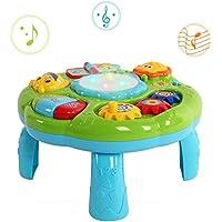 Wishtime 幼児用 ミュージカル ラーニングテーブル 赤ちゃん 知育玩具 おもちゃ(グリーン)