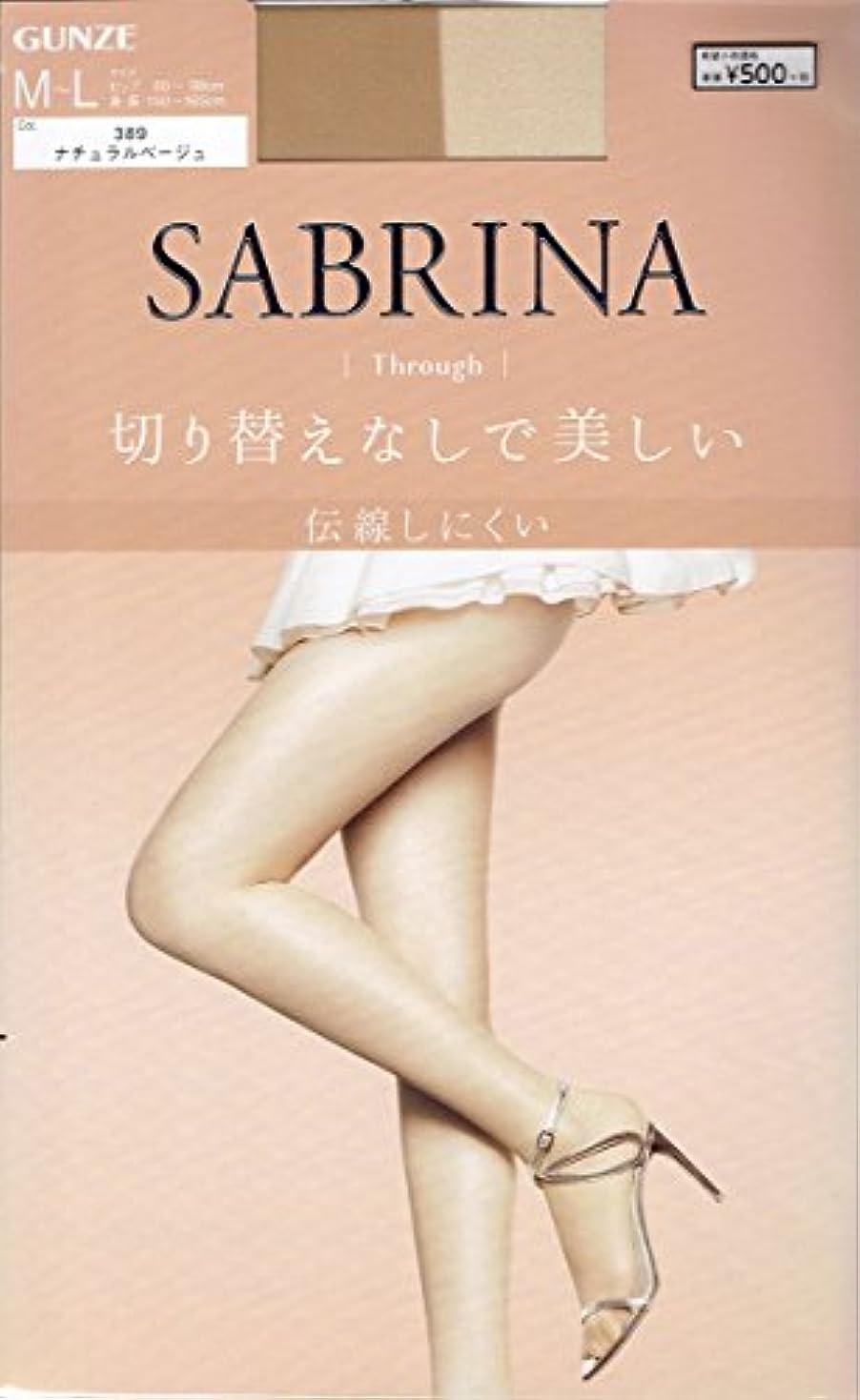 長方形考え徴収SABRINA(サブリナ) オールスルー ストッキングMLナチュラルBE