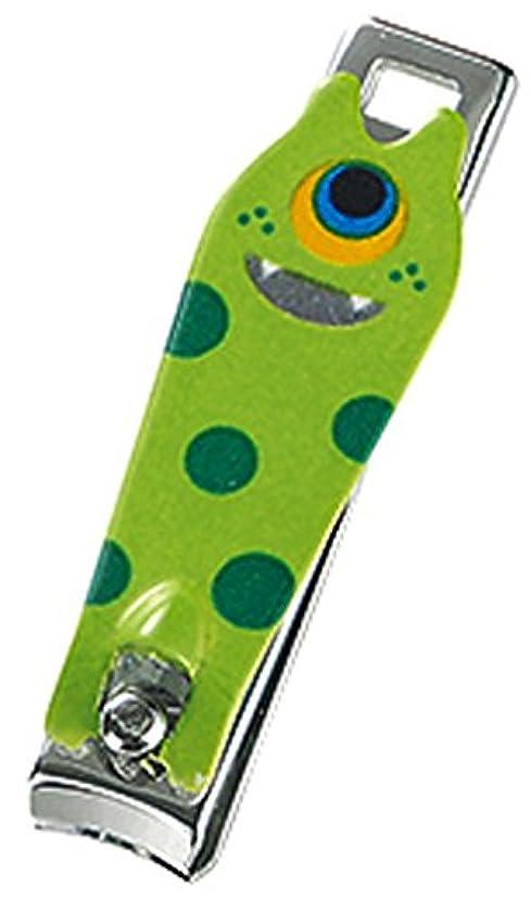 象やりすぎ船形モンスター ミニつめ切りセット (ストラップ付き透明ケース付き) グリーン