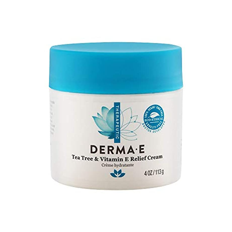 行うポップ浅いDerma E Therapeutic Tea Tree & Vitamin E Antiseptic Cream 113g/4oz並行輸入品