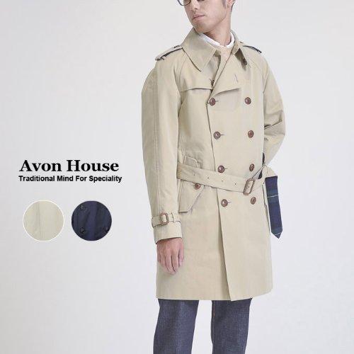 【AVON HOUSE】エーボンハウス TRENCH CORT トレンチコート (46, A:ベージュ) -