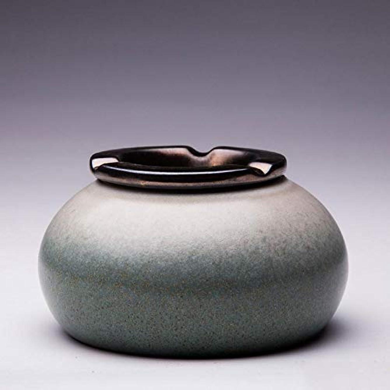 行う伝統事実上灰皿Creative Outdoor Ceramics灰皿 (色 : グレー)
