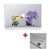 クールデザインColoredブラックホワイトMacbookステッカーデカールビニールスキンカバーノートパソコン–Buy 2Get 1Free
