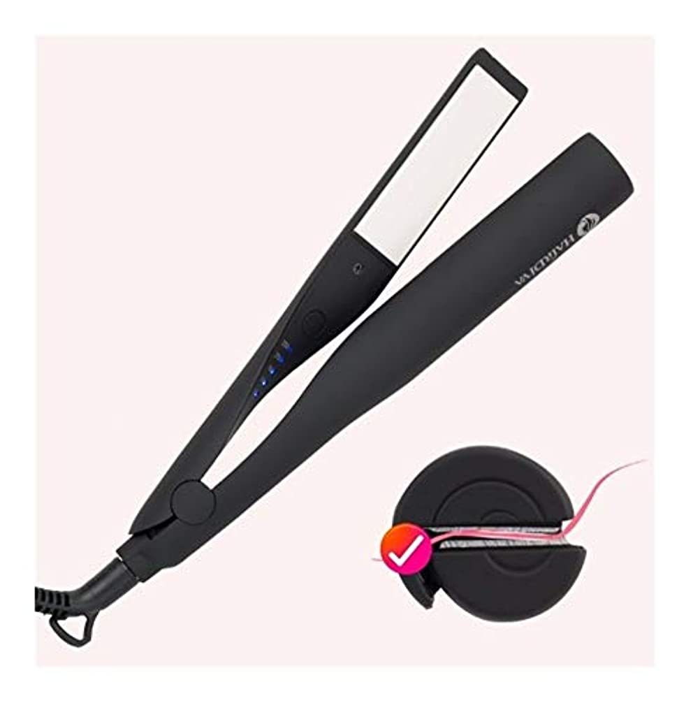 動員するジェット落胆したCQQ プロフェッショナル電気矯正アイアン&1つのストレートヘアアイロンフラットアイアンセラミックスタイリングツールアイアンPROスタイリングヘアツールカーリング鉄の毛のストレートヘアの杖でCurlingIron髪カーラー2 (Color : Black)