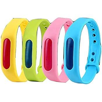 nico+(ニコプラス)赤ちゃん 虫除け リストバンド 子供 大人 兼用 防虫用品 4個入り 任意の色