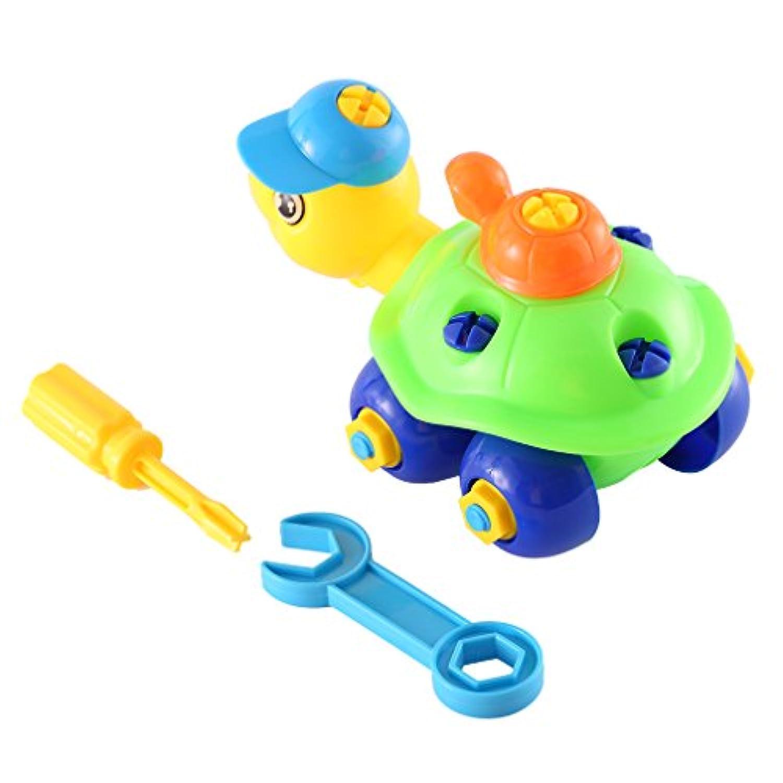 おままごと 早期教育&学習ビルブロックアセンブリクラシック面白いカメ玩具キット子供誕生日プレゼント マルチカラーカメ