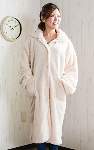 【ふんわり温かい超極柔マイクロファイバー着る毛布 着丈110c...