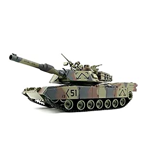 VIGAS 人気ラジコン戦車  日本の電圧に向き変圧器付き アメリカ M1A1戦車 シュートできる バレルが回われる 日本語説明書 発砲音がします LEDライトつき 詳しい日本語説明書付き 暇つぶしやお子様へのプレゼントに最適