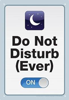 Do Not Disturb Tin Sign [並行輸入品]
