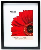 kieragrace Kiera Grace Gallery Wood Picture Frame, 11x14 Matted for 8x10, Black [並行輸入品]