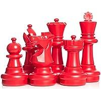 megachess Giantチェスセット – レッドandブラック – プラスチック – 25インチKing