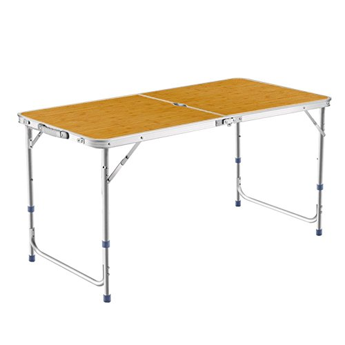 DesertFox アウトドア 折りたたみ テーブル 120×60×(40-50-70)cm 3WA...