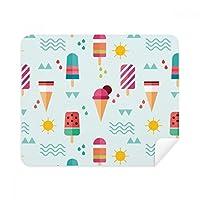 Sun Mountain River Popsicle Sweet Iceクリーム電話画面クリーナーメガネクリーニングクロス2pcsスエードファブリック