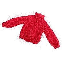Dovewill 1/4スケール  BJD人形対応 素敵 ハイカラー セーター 赤色 ドール 服装