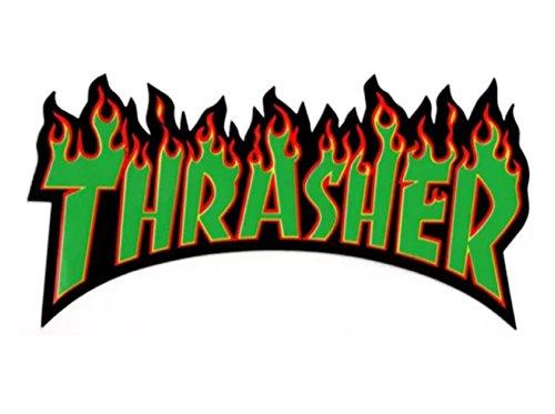 THRASHER(スラッシャー)ステッカー FIRE LOGO GR