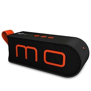 EC Technology Bluetooth スピーカー 通話可能 小型ハンドル付き オレンジ×ブラック
