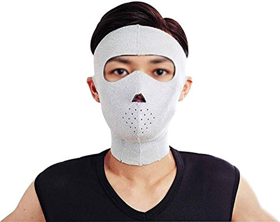 疎外待って翻訳する美容と実用的なフェイスリフトマスク、フェイシャルマスクプラス薄型フェイスマスクタイトアンチタギング薄型フェイスマスクフェイシャル薄型フェイスマスクアーティファクト男性ネックストラップ付き