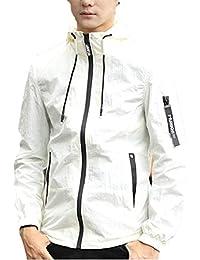 maweisong メンズボンバージャケットスリムフィットボンバージャケットコートフーデッドジャケットアウトウェア