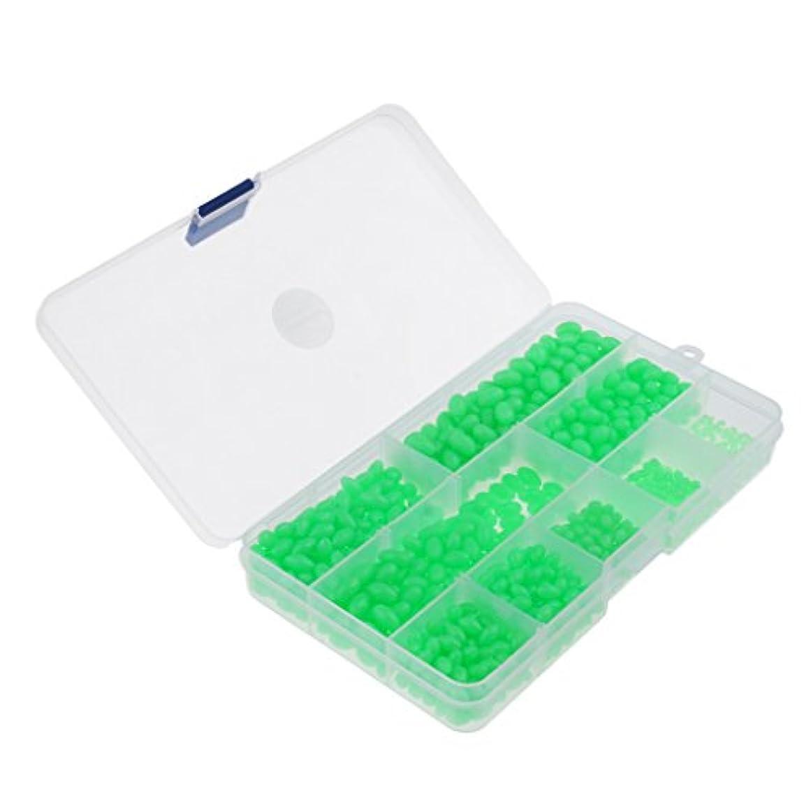 幻想的煙違反DYNWAVE ソフトビーズ 楕円形 グリーン 9サイズ マルチサイズ タックルボックス