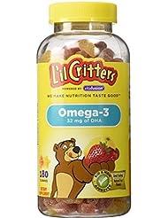 L'il Critters クルクリターズ 子供用ビタミングミ オメガ3 DHA 180粒 [並行輸入品]