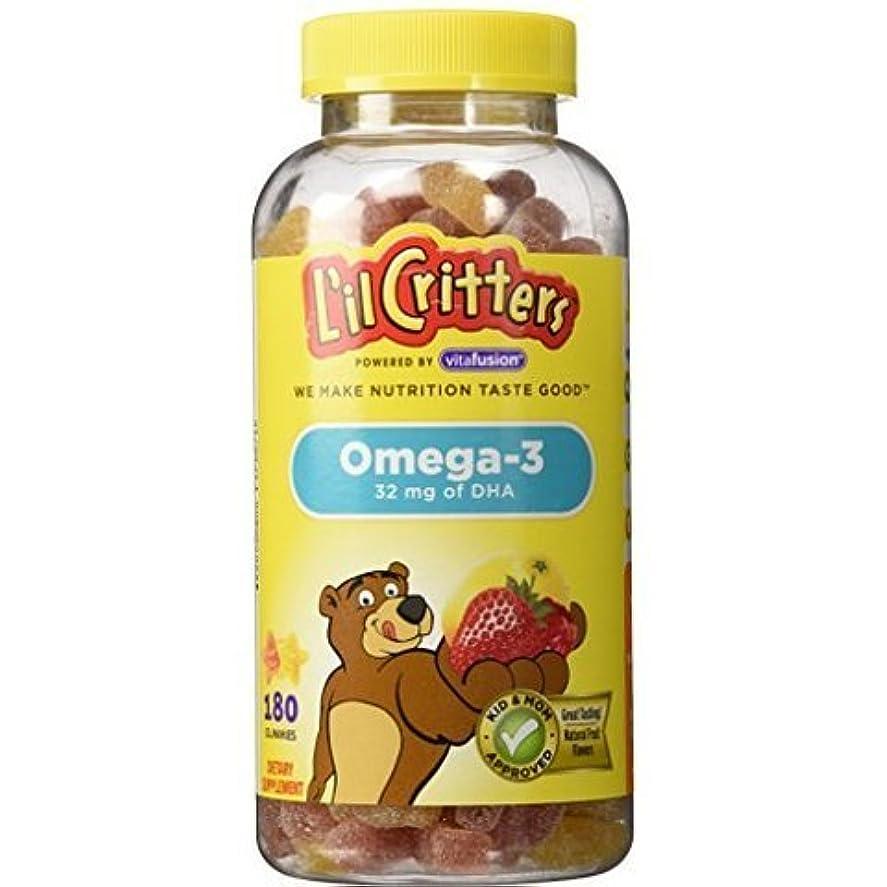 タックシンプルな広告L'il Critters クルクリターズ 子供用ビタミングミ オメガ3 DHA 180粒 [並行輸入品]