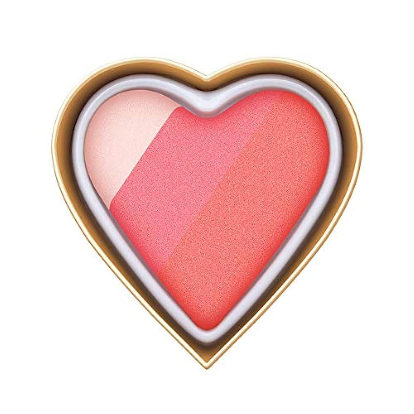 四安西インスタンスFlorrita 女性 ハート型 アイシャドー パレット 優しい色 レインボー色 愛の少女系 ハイライトパウダー アイシャドー 発色が素晴らしい アイシャドウパレット シャドー ブラッシュ 携帯便利 プレゼント (C)