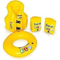 プール用 子供用 ベスト 3歳?6歳 海水浴 スイムベスト 浮き輪 アームリング セット
