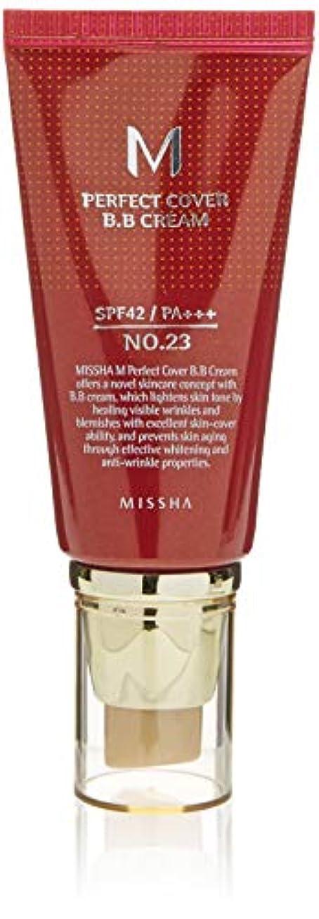 不快宇宙船空MISSHA(ミシャ) M Perfect Cover パーフェクトカバーBBクリーム SPF42/PA+++ 50ml 23号ナチュラルベージュ