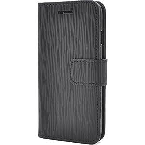 PLATA iPhone7 / iPhone8 ケース 手帳型 ストレート レザー スタンド ケース ポーチ カバー 【 ブラック 黒 くろ black 】 IP7-5028BK